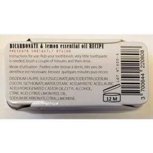 dentifrice solide bicarbonate